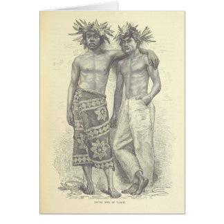 Young Men of Tahiti Card