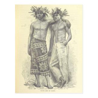 Young Men of Tahiti Postcard