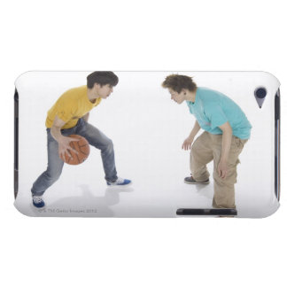 Young men playing basketball iPod touch Case-Mate case