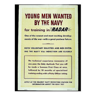 Young Men Wanted By The Way Postcard