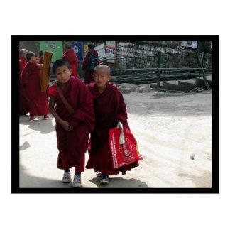Young Monks Dharamsala India Postcards