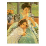 Young Mother Sewing by Mary Cassatt Postcard