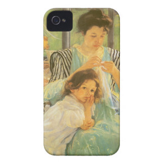 Young Mother Sewing by Mary Cassatt, Vintage Art iPhone 4 Case