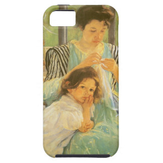 Young Mother Sewing by Mary Cassatt, Vintage Art iPhone 5 Cases