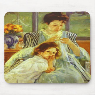 Young Mother Sewing, Mary Cassatt Mousepad