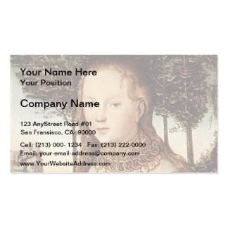 Young mother with child by Lucas Cranach the Elder Pack Of Standard Business Cards