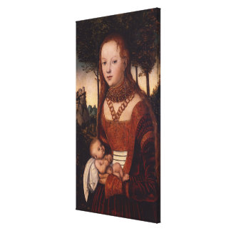 Young mother with child canvas print