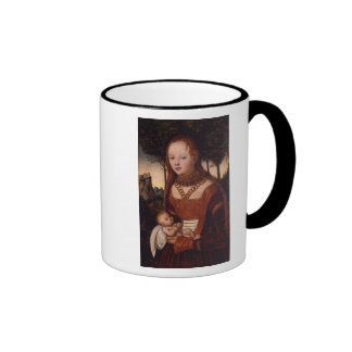 Young mother with child ringer mug