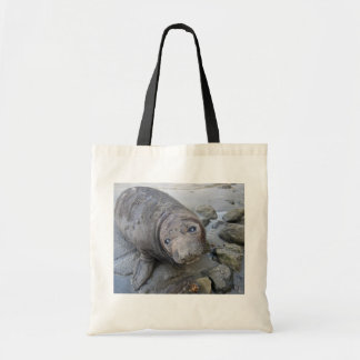 Young Northern Elephant Seal Canvas Bags