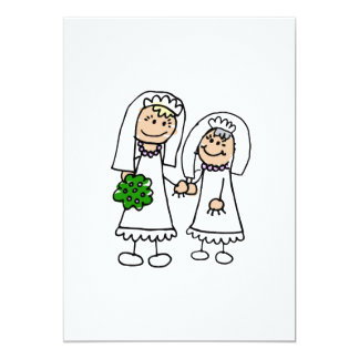 Young & Old Brides 13 Cm X 18 Cm Invitation Card