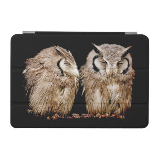 Young Owlets on Dark Background iPad Mini Cover