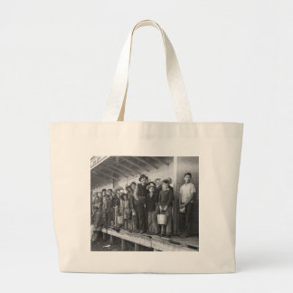Young Pea Pickers, 1940s Jumbo Tote Bag