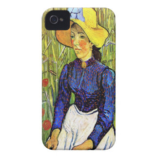 Young Peasant Girl by Vincent van Gogh 1890 Case-Mate iPhone 4 Cases