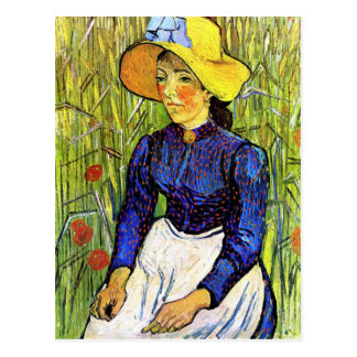 Young Peasant Girl by Vincent van Gogh 1890 Postcard