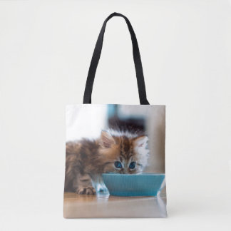 Young Persian kitten with blue eyes Tote Bag