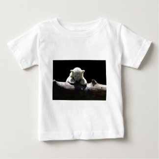 young polar bear on a log baby T-Shirt