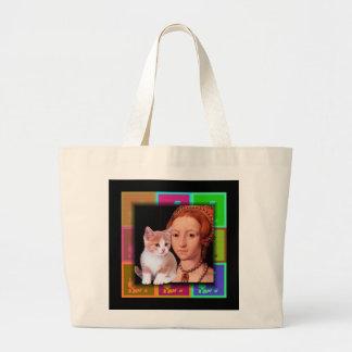 Young  Princess Elizabeth I Portrait 3 Jumbo Tote Bag