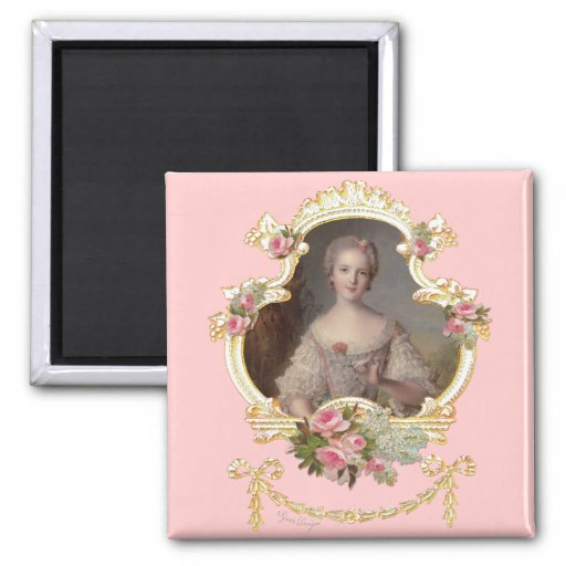 Young Princess Louise Marie of France Square Magnet