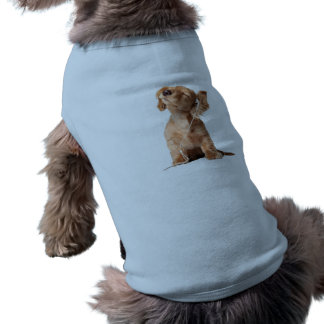 Young Puppy Listening to Music on Headphones Sleeveless Dog Shirt