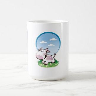 Young purple cow cartoon basic white mug