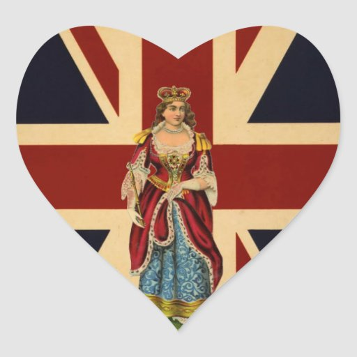 Young Queen Victoria British Scrap piece design Stickers