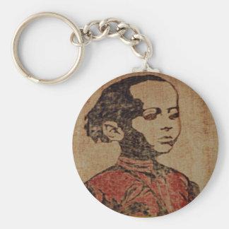 Young Ras, Young Haile Selassie I, Jah Rastafari Basic Round Button Key Ring