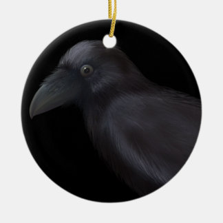 Young Raven Christmas Ornament