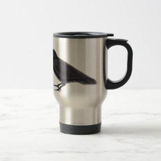 Young Raven Travel Mug