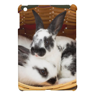 Young Rex rabbits in Easter basket 2 Cover For The iPad Mini