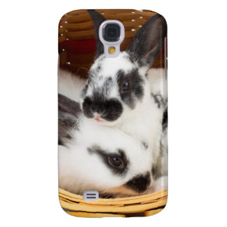 Young Rex rabbits in Easter basket 2 Galaxy S4 Case