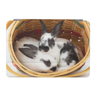 Young Rex rabbits in Easter basket 2 iPad Mini Cover