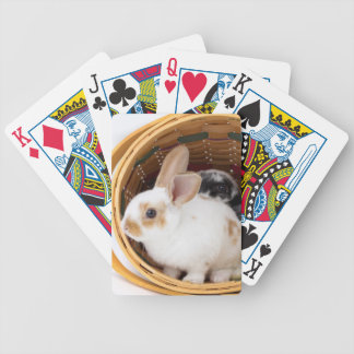 Young Rex rabbits in Easter basket Bicycle Playing Cards