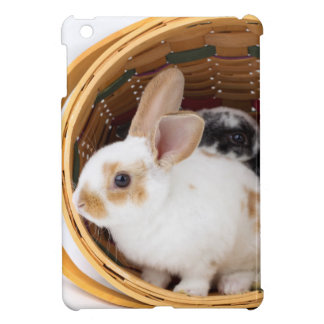 Young Rex rabbits in Easter basket Cover For The iPad Mini