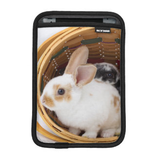 Young Rex rabbits in Easter basket iPad Mini Sleeve