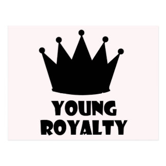 Young Royalty 5 Star Crown Collection Postcard