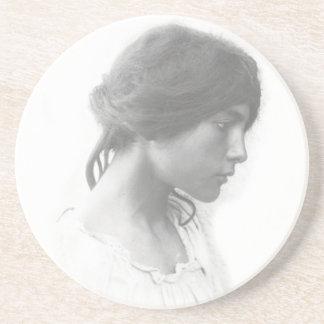 Young Sicily Woman Coaster