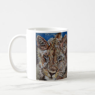 Young  South African Male Lion Coffee Mugs