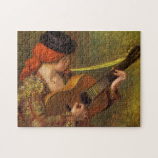 Young Spanish Woman with a Guitar by Pierre Renoir Jigsaw Puzzle