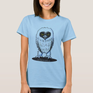 Young Spectacled Owl Ladies Baby Doll T-Shirt