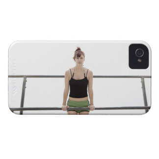 young sporty woman on a holm outside Case-Mate iPhone 4 case
