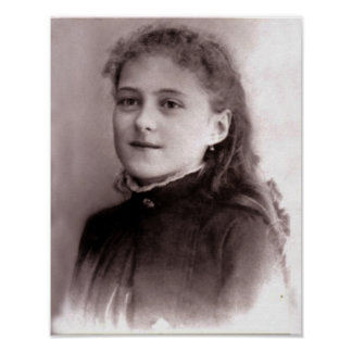Young St. Therese of Lisieux Poster