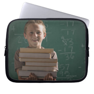 Young student in classroom laptop sleeve