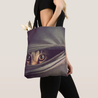 Young Tabby Kitten Tote Bag