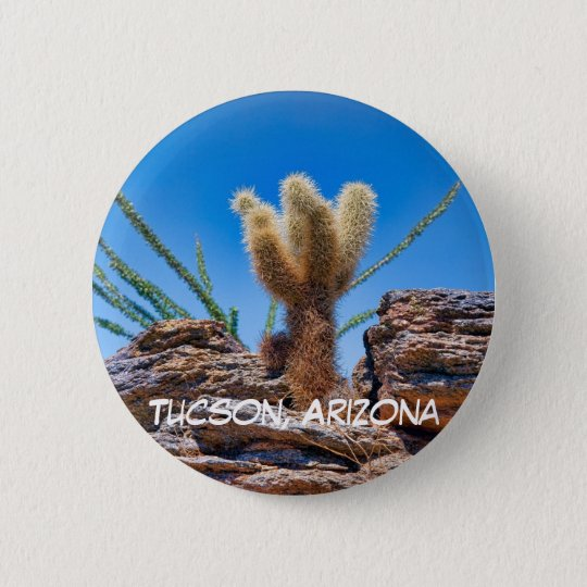 Young Teddy Bear Cholla 6 Cm Round Badge