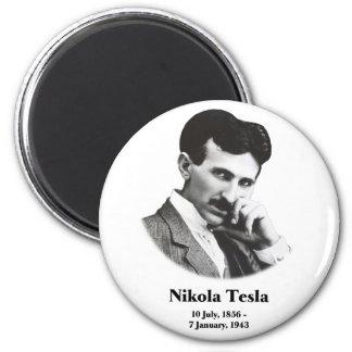 Young Tesla Fridge Magnet