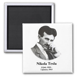 Young Tesla Square Magnet