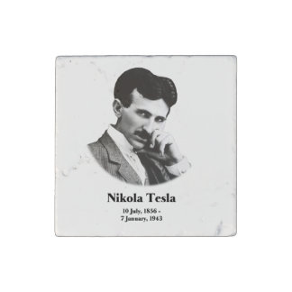 Young Tesla Stone Magnet