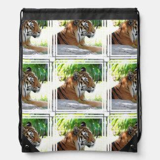 Young Tiger Drawstring Bags