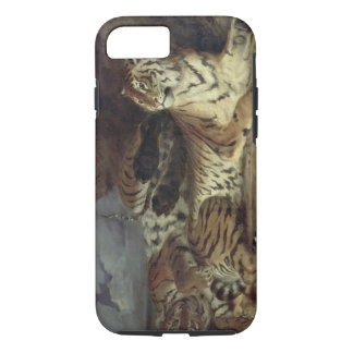 Young tiger playing with his mother, 1830 (oil on iPhone 8/7 case