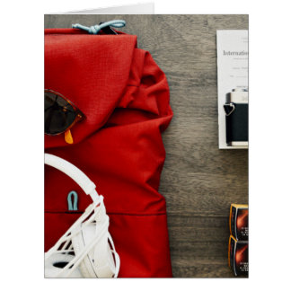 young traveler packing collection item big greeting card